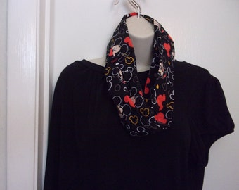 Mickey Mouse  Black and Red Mickey Infinity Scarf
