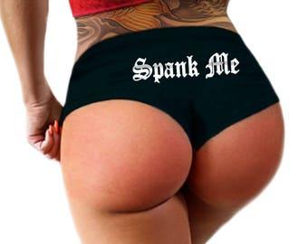 Spank Me Panties, Boyshort Booty Panty, Womens Underwear
