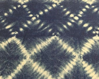 Richloom Indoor/Outdoor blue white tie dye fabric by The Yard