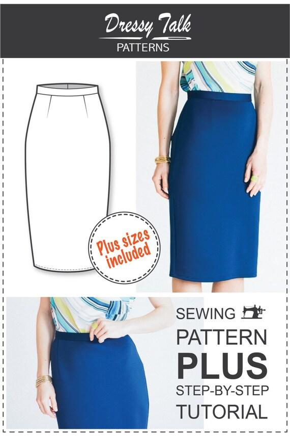 Pencil Skirt Pattern PDF Sewing Patterns