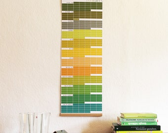 Perpetual Calendar EVERGREEN Calendar of Events Memory Memories Designcalendar