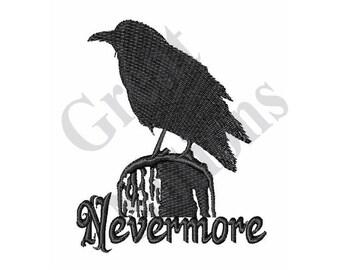 Nevermore Raven - Machine Embroidery Design
