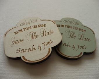 Wedding Save the Date Magnet - Sample, Rustic Save the Date Magnets, Custom Wedding Invitation, Laser Cut Sign
