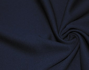 Navy 60'' Solid Stretch Scuba Knit Fabric by the Yard - Style 3044