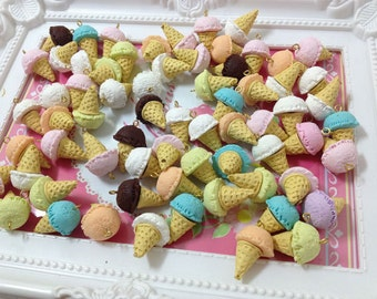 Sweet Deco - Ice Cream Charm- 20pcs Mix Colors W10mm x L24mm For Deco Charms - LOT004