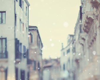 Venice Photography, Large Wall Art, Travel, Italy Art Print, Winter Snow, Fine Art Photography, Wall Decor Large Print - Sotto Voce