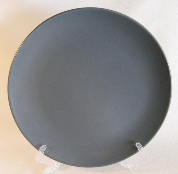 Like this item? & Ikea Sweden 2 Dinner Plates grey gray dark solid colored 18691
