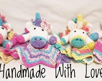 Unicorn Comforter. Unicorn Feely. Unicorn Lovely. Baby Blanket. Baby Gift. Baby shower. New Baby. Comfort Blanket.