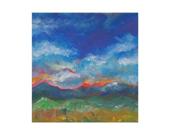 Mountains Landscape Print