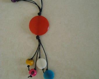Long necklace multicolor color