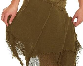 STEAMPUNK SKIRT, Elf skirt, pixie skirt, gypsie skirt, fairy skirt, ragged skirt, festival skirt, GLskpx