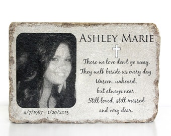 Sympathy Stones For The Garden Memorial stone etsy memorial stone with picture personalized memorial gift 6x9 tumbled concrete paver remembrance stone workwithnaturefo