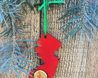 New Jersey Beer Cap Ornament Personalized Craft Beer Ornament Beer Ornament Craft Beer Gift Beer Cap Gift Beer Gift Christmas Beer Cap Gift