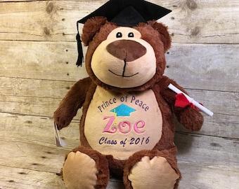 Personalized Baby Cubbie Graduation Cubbie Baby Cubbies Stuffed Animal Personalized Stuffed Animal Baptism Gift Birth Announcement Gift