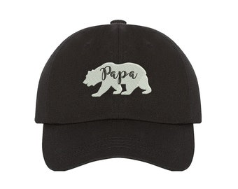 PAPA Dad Hat |  PAPA BEAR Hat | Dad Hat |Gift for Dad | Bear Family Hat | Matching Family Hats | Papa Bear Family | Fathers Day Gift for dad
