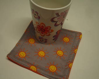 Cup Carpet Mug Rug Happy Suns