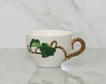 Vintage Metlox Poppytrail Teacup, California Ivy, Poppytrail Teacup, Metlox Ivy Teacup, Vintage Poppytrail, Vintage Ivy Cup, Poppytrail Cup