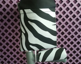 ZEBRA Padded Crutch Handle Covers and Cuff Bags - Adult & Child Sizes Available