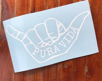 Pura Vida Hang Loose Decal