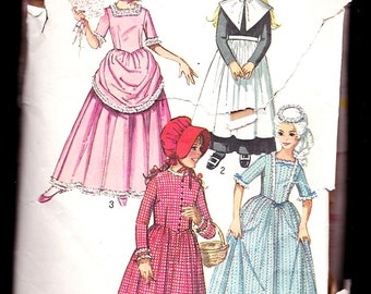 Simplicity 9136 Child's and Girls Puritan,Centennial,18th and 19th Century Costumes