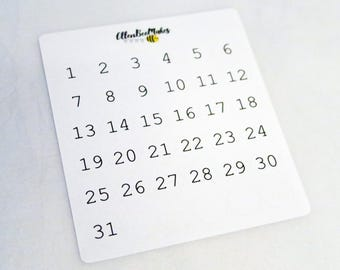 Half Inch Circle Date Dot Stickers