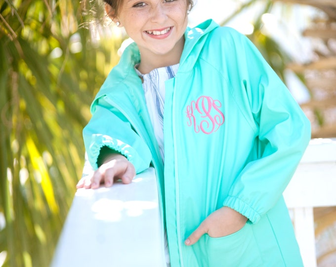 Rain Jackets, Kids Monogrammed Rain Jacket, Girls Monogrammed Rain Jacket, Boys Rain Jacket, Personalized Rain Jacket