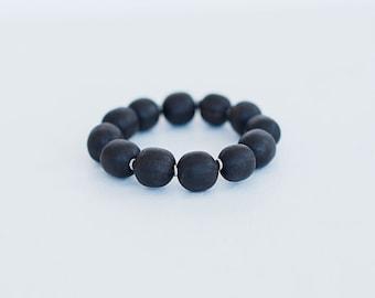 Bracelet collection Bokeur/ bois ebene/noir/fait main/metal recycle/design africain/Style SO Original