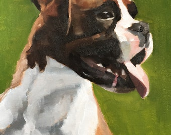 Boxer Dog Art PRINT Boxer Dog painting dog wall art boxer dog art dog painting boxer dog wall decor gift