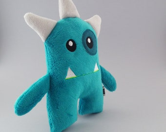 Boo - Turquoise -  minky  - monster plush toy- stuffed monster - plush toy - Plushie - Softie - cute monster