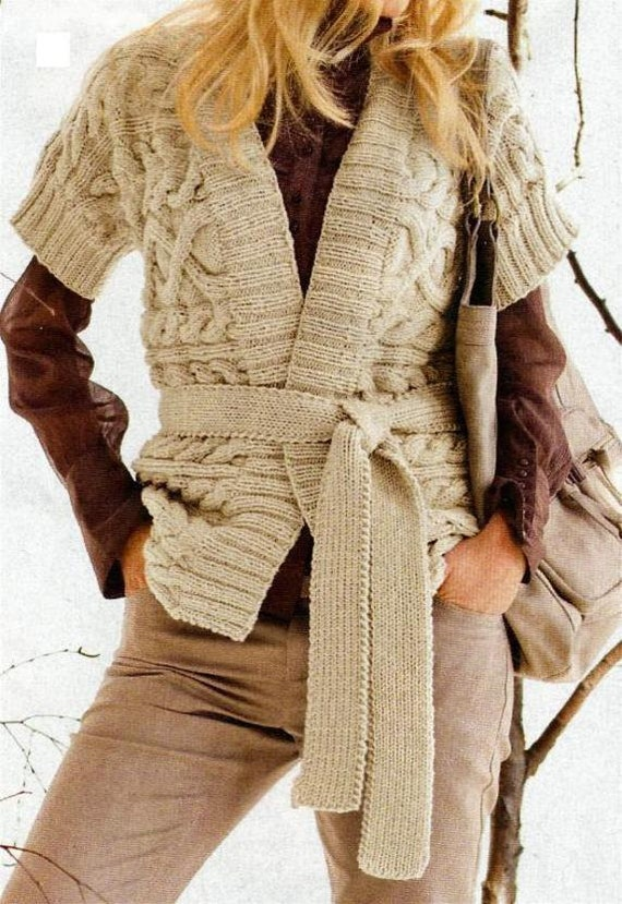 Instant Pdf Digital Download Vintage Knitting Pattern Ladies Womens