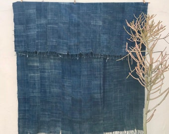 Mossi Cloth African Fabric | Vintage Textile Indigo Mudcloth African Indigo Cloth African Fabric Indigo fabric Indigo Throw Blanket 202