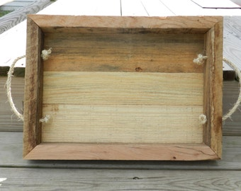 Reclaimed Pallet Wood Tray
