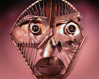Sterling Silver Brooch Star Diopside Talisman  Hollow Man- Hollow Woman