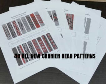 40 Carrier Bead Patterns  -ALL NEW-  Done in even count peyote stitch - Instant Digital Download