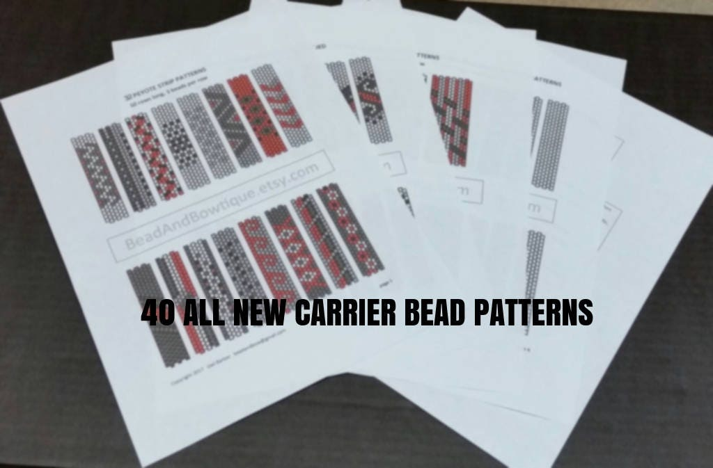 40 Carrier Bead Patterns ALL NEW Done in even count peyote