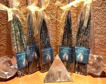 Artisan Incense Resin Sticks, Frankincense & Myrrh, Resin Incense sticks 6pck, hand rolled incense, natural herbs