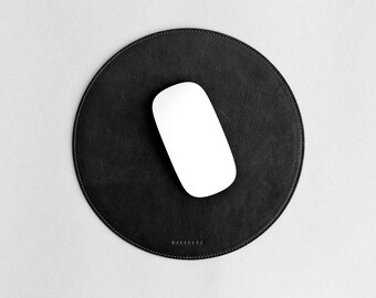 Thin leather mouse pad, slim mat, mousepad // SURFACE 2017 (Black)