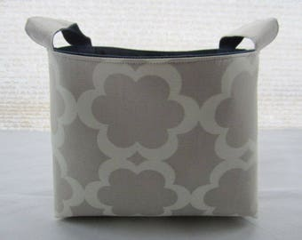 Storage Organizer Basket Container Bin Fabric Caddy -  Gray Garden Tarika Moss