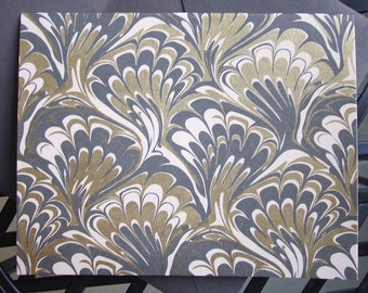 Greeting Cards - Gold and Gray Marble - (Rossi) Set of 10