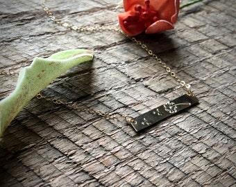 Dandelion Bar Necklace