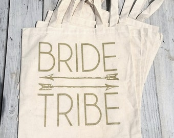 Eco-Friendly Bride Tribe Bachelorette Party Reusable Canvas Tote Bag
