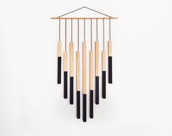 Geometric Wall Hanging Art Object Home Decor - Black