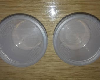50 x 4oz Satco Plastic pots with Lids, perfect for slime and other small items