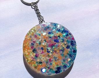 Rainbow Disc Keychain