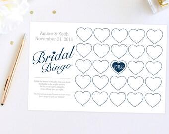 Digital File Bridal Shower Game Bingo Cards