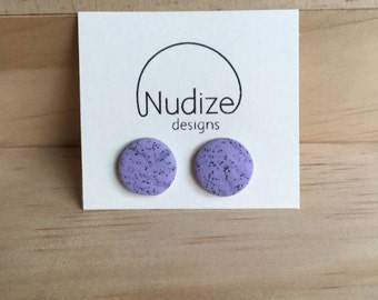 """Handmade statement stud earrings // gifts for her // """"Wild lavender"""""""