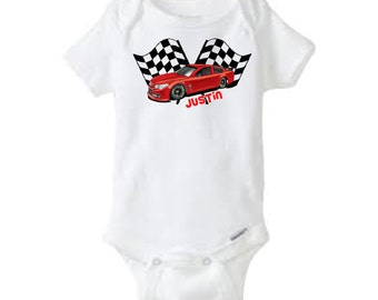 Racecar Onesie, Racecar Shirt, Kid Shirt, Kid Racecar Shirt