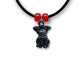 Enamel Black Pug Necklace