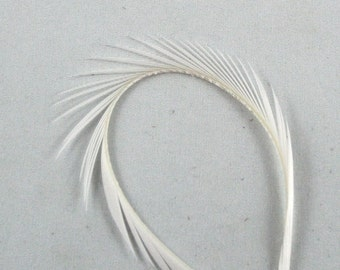 Feathers Goose Biots 4 Natural White    gb-01 craft feathers fly tying feathers