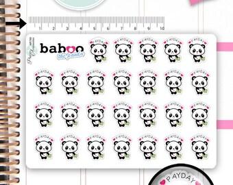 Kawaii PayDay Stickers Cute Baboo Panda Stickers Pay Day Stickers Planner Stickers Functional Stickers Decorative Stickers NR789